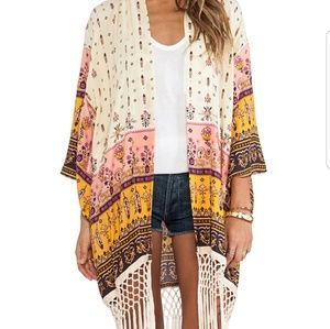 Spell & The Gypsy Collective Intimates & Sleepwear - Flash sale! Spell Desert Wanderer Fringe Kimono